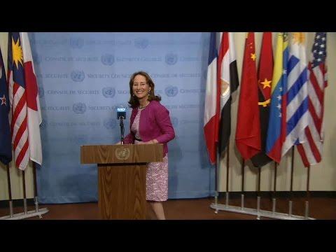 Conférence de presse avec Ségolène Royal au siège de l'ONU