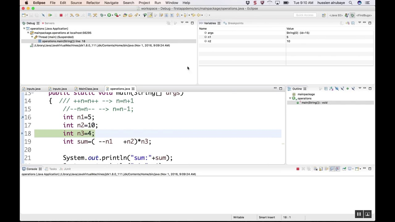 JAVA - Debug your Code step by step with Eclipse