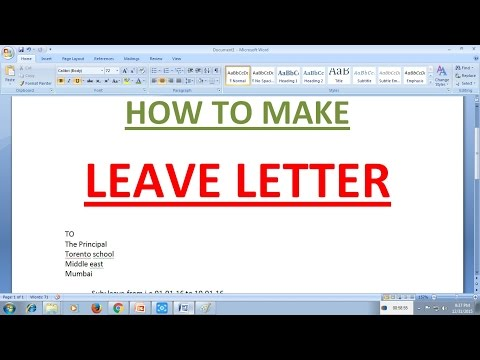 How To Write Leave Application At School – How to Write an Leave Application