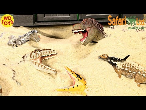 New Dinosaur Surprise Toys Buried in Sand 6 Safari Ltd Dinosaur Toy W Jurassic Park Dino Unboxing