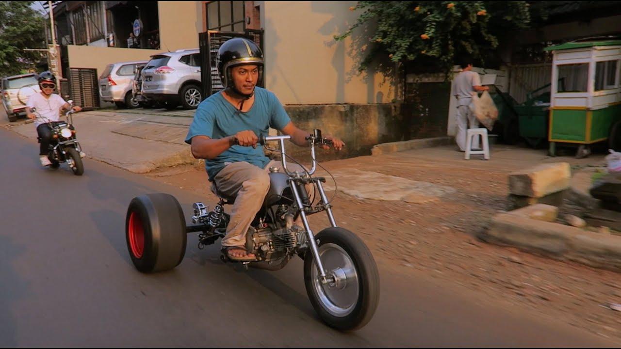 MotoVLog Testride Motor Roda Tiga DIY Honda Monkey Trike YouTube