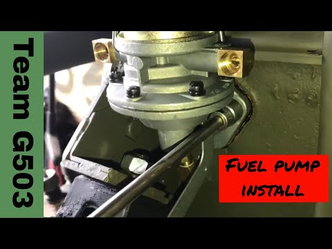 Installation Of The Fuel Pump On A Willys MB L134 Engine