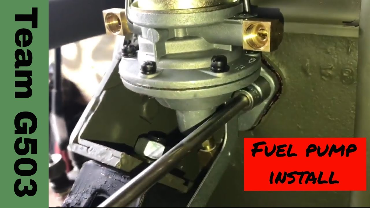installation of the fuel pump on a willys mb l134 engine 134 L Engine Rebuild