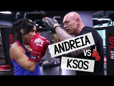 Krzysztof Soszynski and Andreia Brazier  Learn UFC basic techniques