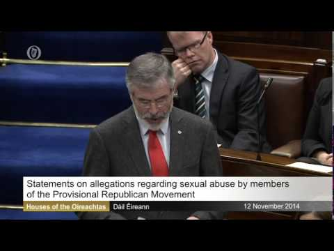 Adams defends Sinn Féin against politically motivated allegations of sex abuse cover-up
