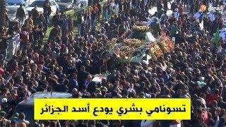 تسونامي بشري يودع الراحل أحمد قايد صالح