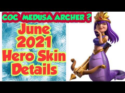 CLASH OF CLANS|| JUNE 2021 SKIN REVEALED|| Meet The Medusa Queen