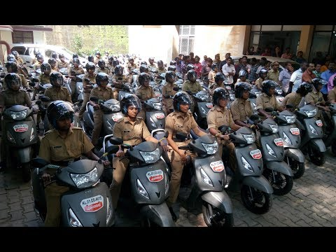 Kerala State Excise department women's scooter patrolling squad
