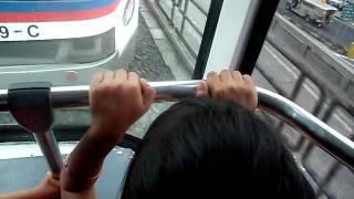 MRT ride w/ Kim and Adzel