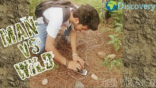 Man vs Wild (Full Desi version) ||Funny spoof ||Round 2 shell ||Discovery ||kangra boys 2017