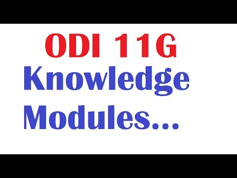 Oracle Data Integrator Knowledge Modules LKM,CKM and IKM