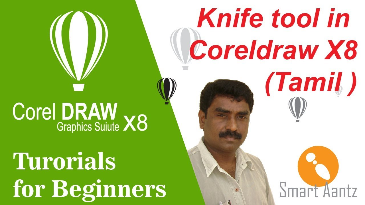 How to use Knife tool in coreldraw X8