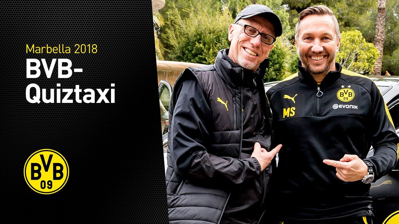 BVB-Quiztaxi | Special-Edition mit Peter Stöger & Manfred Schmid | Marbella 2018