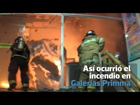 Así ocurrió el incendio en locales de Centro Comercial en la zona 7