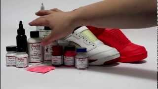 How to paint Solar Red - Red October Jordan 5 KOS Kinofsneakers.com