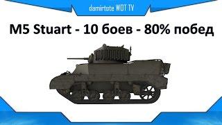 M5 Stuart - 10 боев - 80% побед - вн8 3278