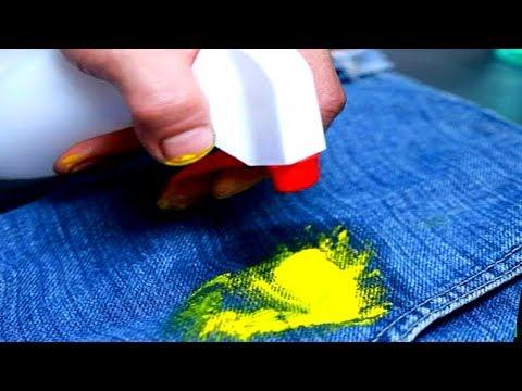 Как отстирать акриловую краску с одежды