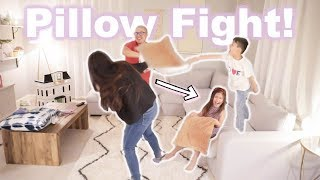 ULTIMATE FAMILY PILLOW FIGHT! *Things got CRAZY*