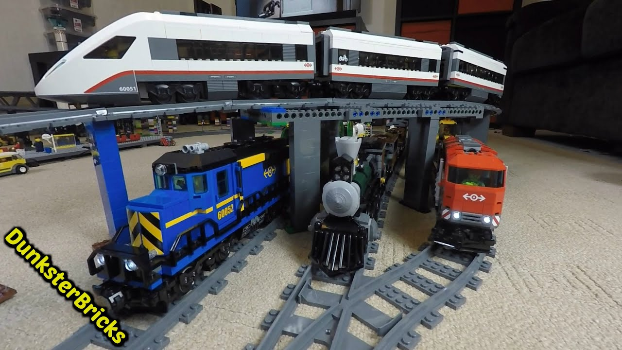 LEGO Train Track Setup! Passenger, Cargo and Steam Trains, with ...