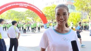 Người đẹp H'ăng Niê đẹp khỏe khoắn trong ngày chạy bộ