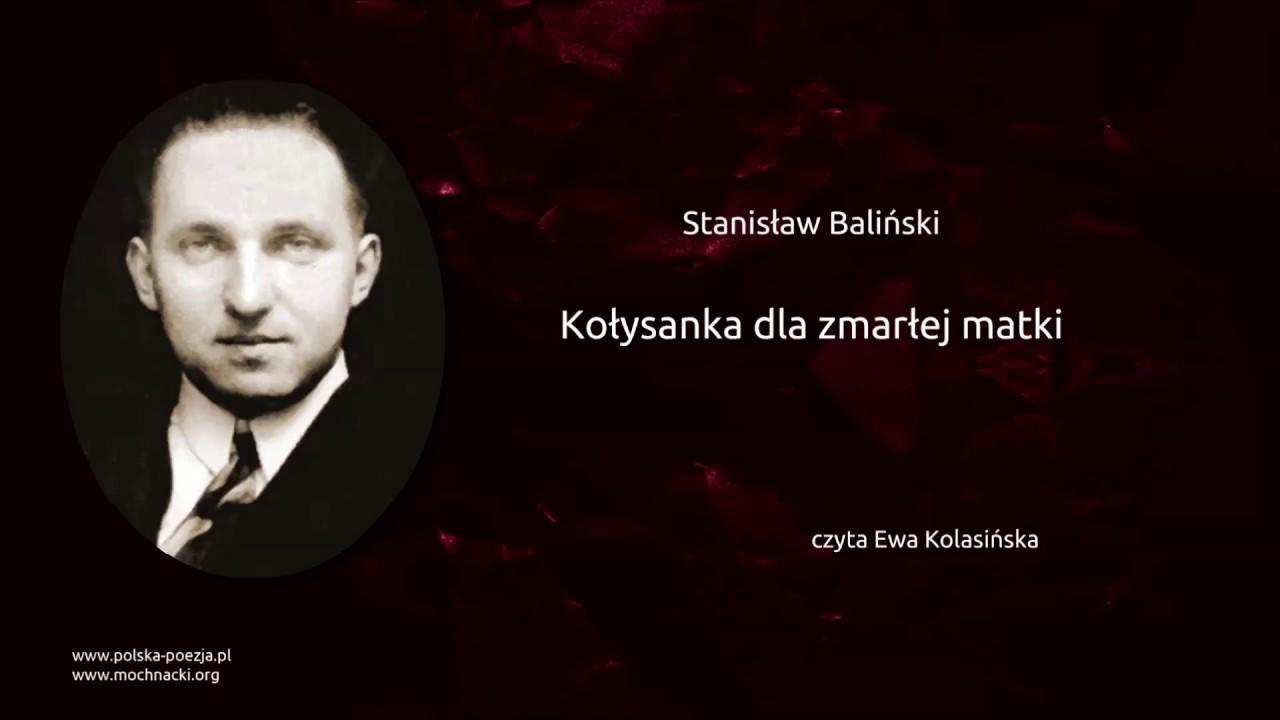 Stanisław Baliński Kołysanka Dla Zmarłej Matki