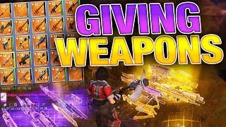 *NEW* MASSIVE GUN GIVEAWAY!!! RIGHT NOW!! (Fortnite Save the World) Live