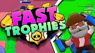 FAST TROPHIES in BRAWL STARS with MOLT