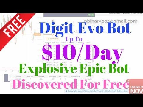 Free Binary.com Bot - Digit Evo Binary Bot | Explosive Epic Binary Bot Discovered For Free!
