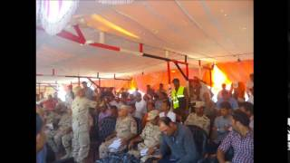 full meeting with the wazer Major General Workers and Contractors August 2014
