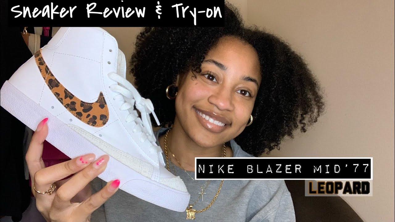 Nike Blazer Mid'77 Leopard  Sneaker Review & Try-On Ma'Kayla Kamille