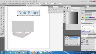 Easy vector, Illustrator,Note paper,note paper illustrator tutorial,ทำกระดาษโน้ตง่ายๆ