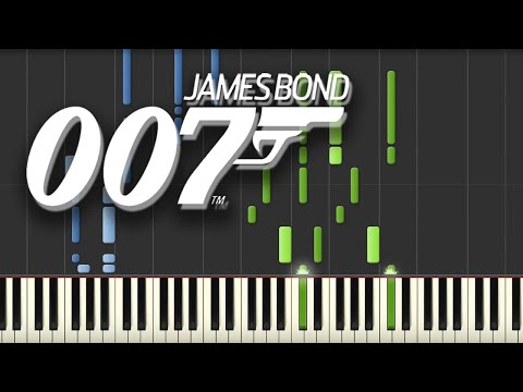 James Bond  Theme Song Piano Tutorial