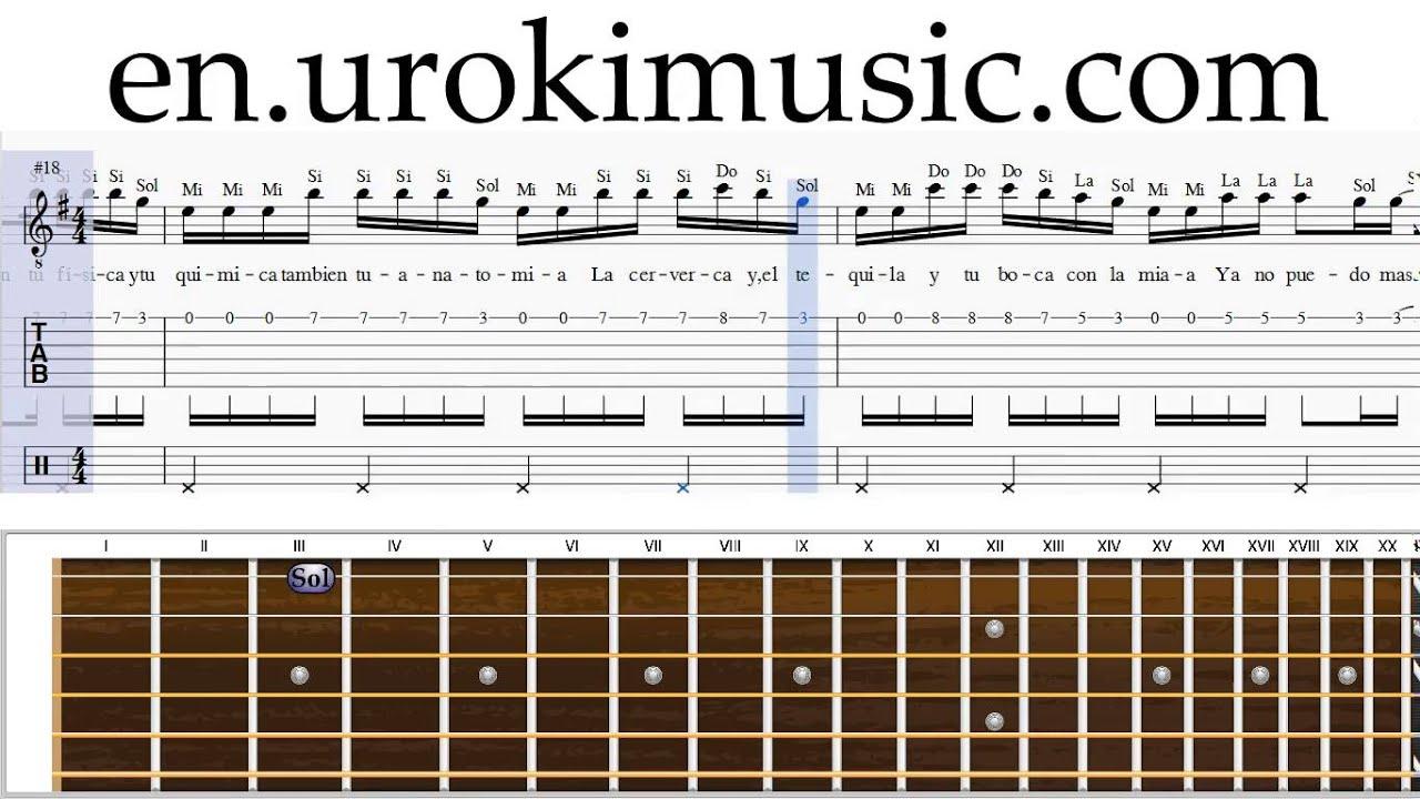 How To Play Guitar Enrique Iglesias Bailando Melody School Learn