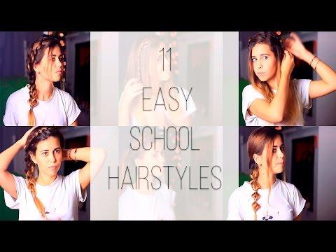 11 Easy School Hairstyles/ 11 Простых причесок на каждый день|Fosssaaa