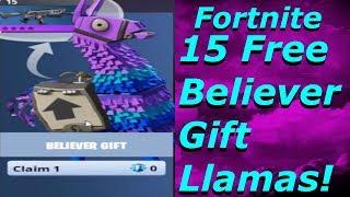 "Fortnite -""15 Free Believer Gift Llamas"" Free Upgrade Llamas in Fortnite Early Acess"