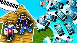 ЦУНАМИ ИЗ АЙФОНОВ 10 В МАЙНКРАФТ! КАК ВЫЖИТЬ ПРОТИВ ЦУНАМИ?! - (Minecraft - Мультик)