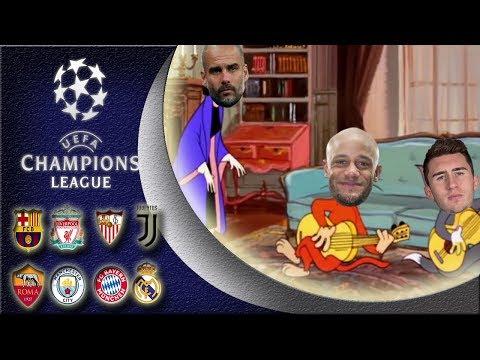 Champions League quarter final 1st and 2nd leg compilation parody