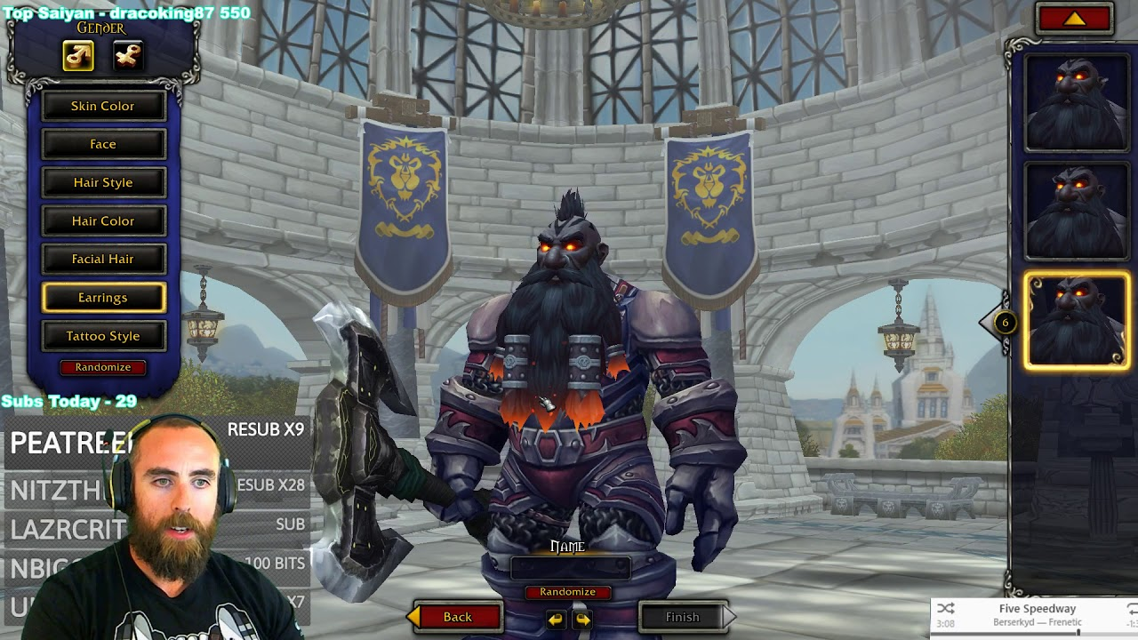 Battle For Azeroth Beta Dark Iron Dwarf Character Creation New