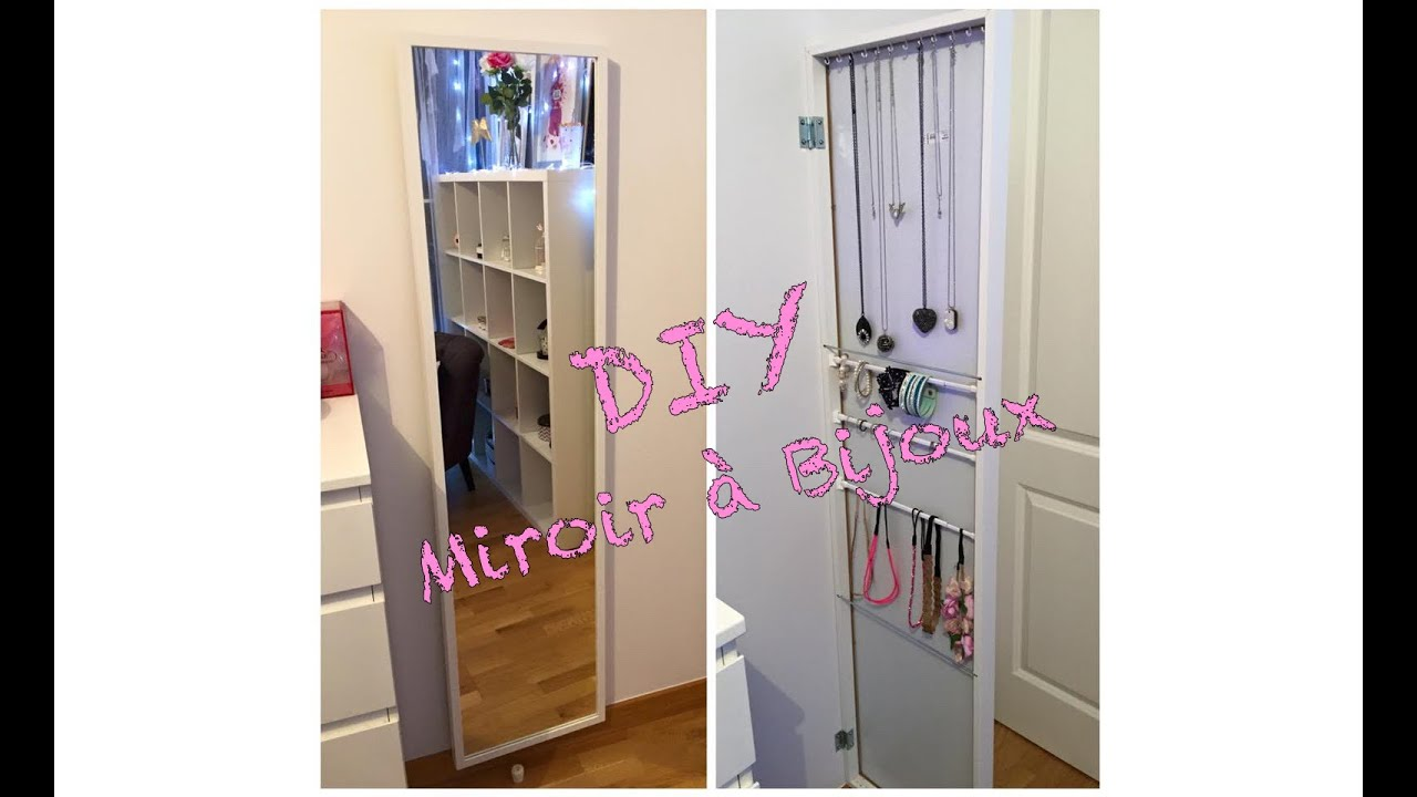 Diy cr er son miroir bijoux youtube for Armoire bijoux miroir