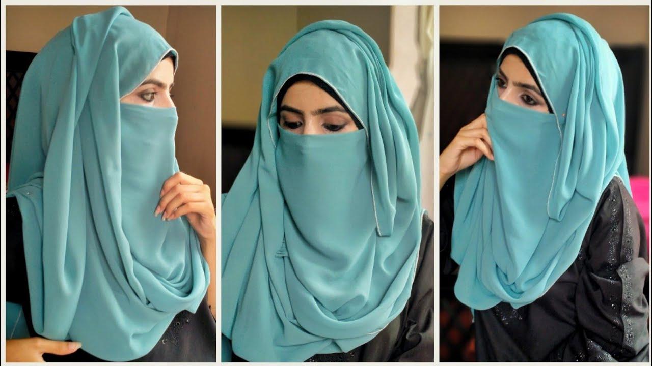 3 minute Niqab   Instant Georgette Niqab Tutorial   Niqab and hijab style   Hijab Styles