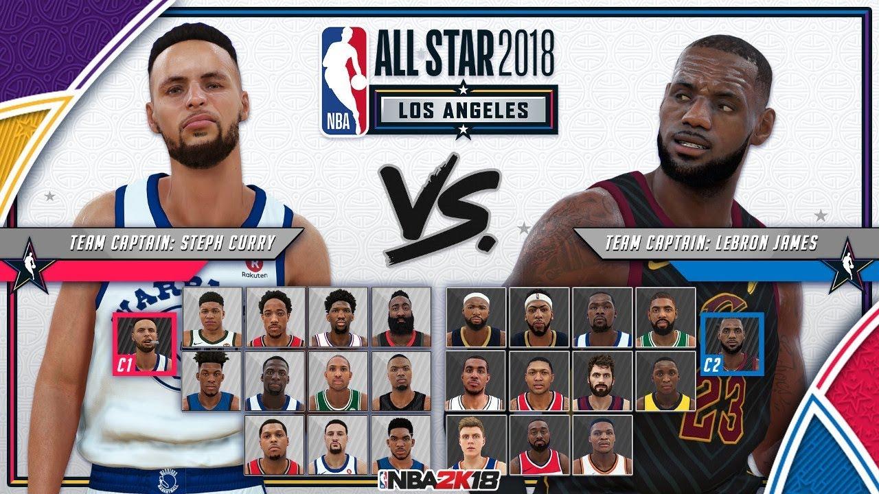 395c4c511668 NBA 2K18 ALL STAR GAME 2018  TEAM  LEBRON JAMES VS TEAM  STEPH CURRY  FULL  GAME