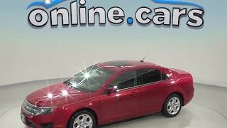 A98504GT Used 2010 Ford Fusion SE FWD 4D Sedan Red Test Drive, Review, For Sale