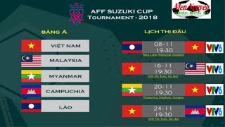 LỊCH THI ĐẤU AFF SUZUKI CUP 2018-TRỰC TIẾP AFF SUZUKI CUP 2018 TRÊN KÊNH NÀO…