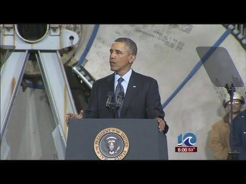 President Obama visits Newport News Shipbuilding