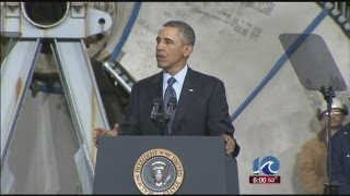 President Obama visits Newport News Shipbuilding