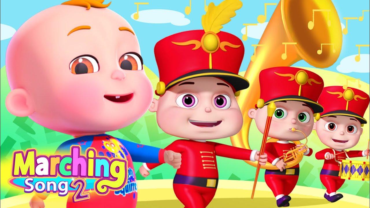 Marching Song & More Nursery Rhymes & Kids Songs   Cartoon Animation For Children   Demu Gola Rhymes