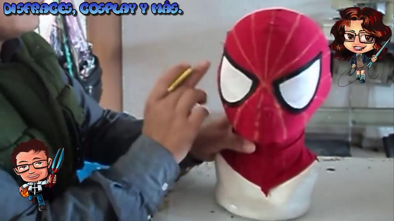Como hacer una mascara de spiderman patrones en la - Como hacer una mascara ...