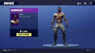 Fortnite: Battle Royale - New Skin and Pickaxe - Bandolier, Stop Axe