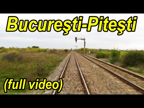 Bucuresti-Titu-Gaesti-Pitesti-Costesti-Potcoava cu trenul-train ride-Zugfahrt