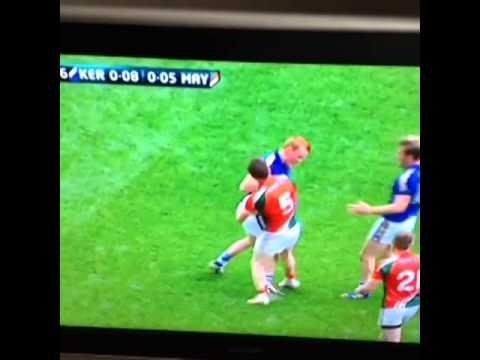 Lee Keegan red card Kerry v Mayo semi final 2014